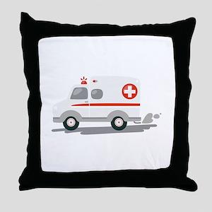 EMT Ambulance Throw Pillow
