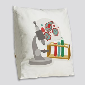Biology Science Burlap Throw Pillow