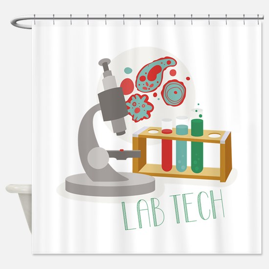 Lab Tech Shower Curtain