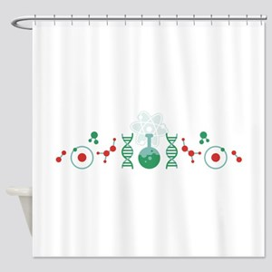 Science DNA Shower Curtain