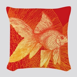 Goldfish Woven Throw Pillow