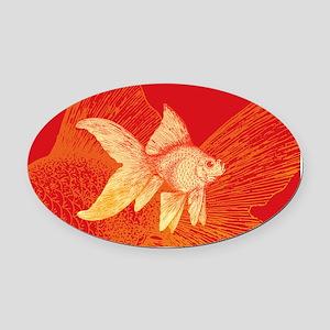Goldfish Oval Car Magnet
