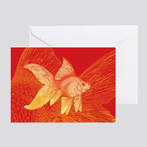 Fish greeting cards cafepress goldfish greeting cards m4hsunfo