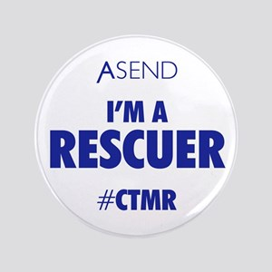 "I'm A Rescuer White 3.5"" Button"
