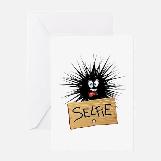 Selfie Fun Cartoon Face Greeting Cards
