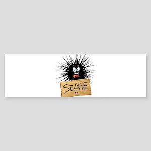 Selfie Fun Cartoon Face Bumper Sticker