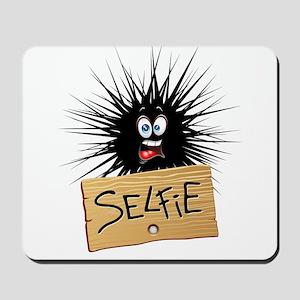 Selfie Fun Cartoon Face Mousepad