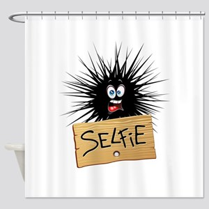 Selfie Fun Cartoon Face Shower Curtain