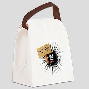 Selfie Fun Cartoon Face Canvas Lunch Bag
