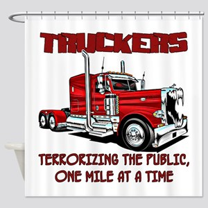 Truckers-Terrorizing The Public, Shower Curtain