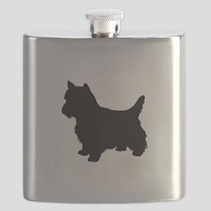 Cairn Terrier Black 1C Flask