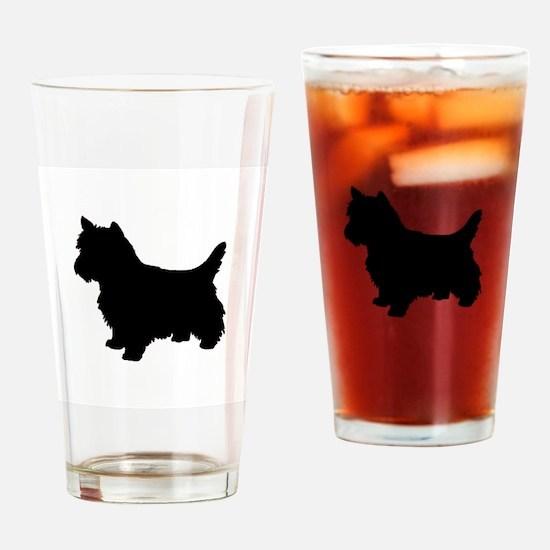 Cairn Terrier Black 1C Drinking Glass