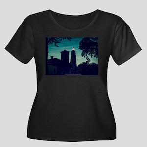 Sandy Ho Women's Scoop Neck Dark Plus Size T-Shirt