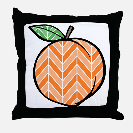 Chevron Peach Throw Pillow