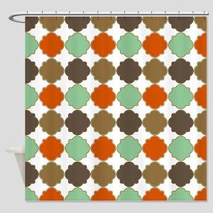 Colorful Morrocan Quatrefoil Patter Shower Curtain