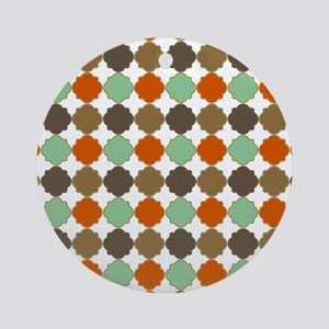 Colorful Morrocan Quatrefoil Patt Ornament (Round)