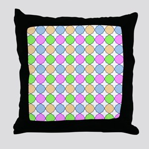 Colorful Morrocan Quatrefoil Pattern Throw Pillow