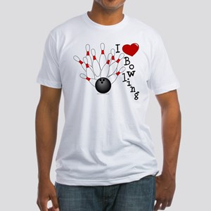I Love Bowling Fitted T-Shirt