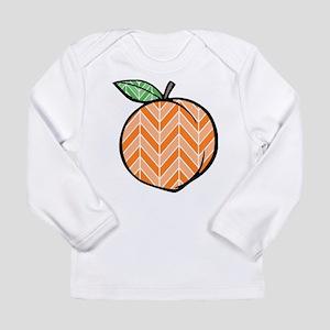 Chevron Peach Long Sleeve T-Shirt