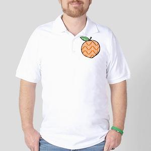 Chevron Peach Golf Shirt