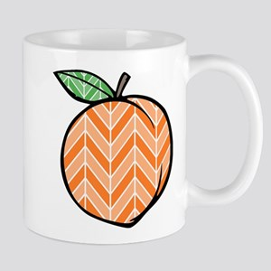 Chevron Peach Mugs