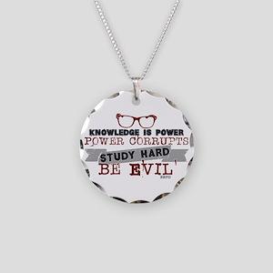Study Hard Be Evil Necklace