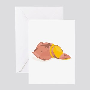Yam Vegetable Greeting Cards