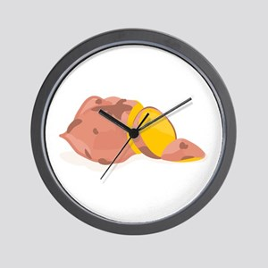 Yam Vegetable Wall Clock