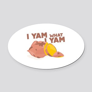 What I Yam Oval Car Magnet
