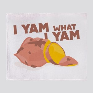 What I Yam Throw Blanket