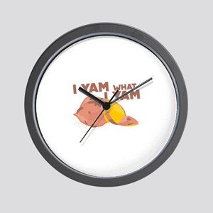 What I Yam Wall Clock