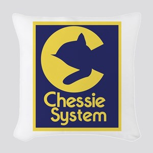 Chessie System Woven Throw Pillow
