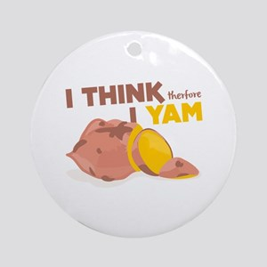 Think Yam Ornament (Round)