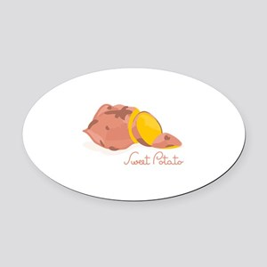 Sweet Potato Oval Car Magnet