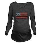 American Flag Long Sleeve Maternity T-Shirt