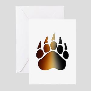BEAR Paw 2 - Greeting Cards (Pk of 10)