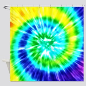 Rainbow Tie Dye Shower Curtain