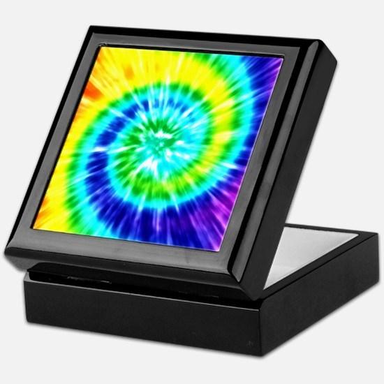 Rainbow Tie Dye Keepsake Box