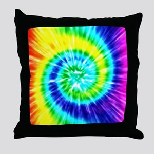 Rainbow Tie Dye Throw Pillow