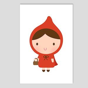 Cute Little Red Riding Hood Girl Postcards (Packag