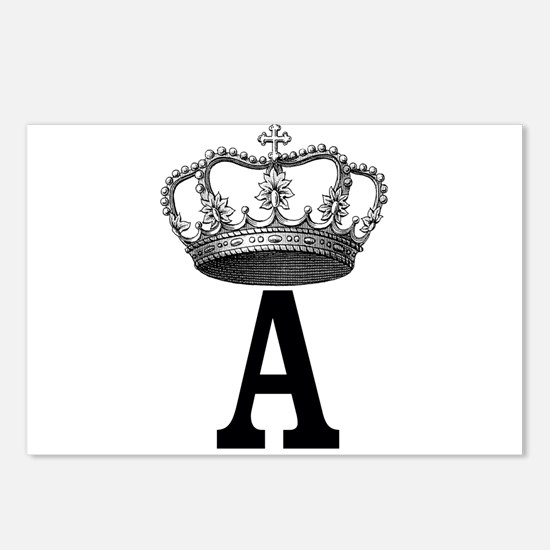 Royal Initial Postcards (Package of 8)