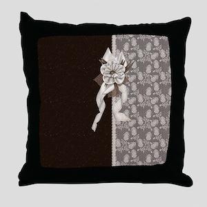 Brown Elegance Throw Pillow