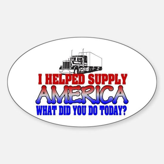 Helped Supply America Trucker Decal