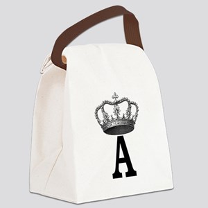 Royal Initial Canvas Lunch Bag