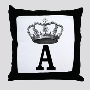 Royal Initial Throw Pillow