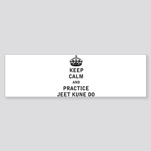 Keep Calm and Practice Jeet Kune Do Bumper Sticker
