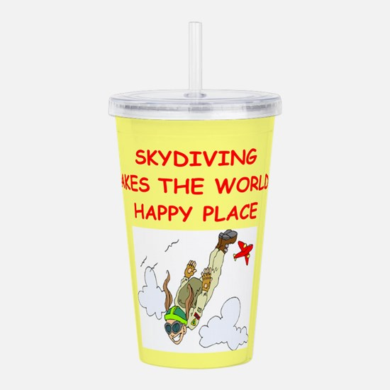 SKYDIVING.png Acrylic Double-wall Tumbler
