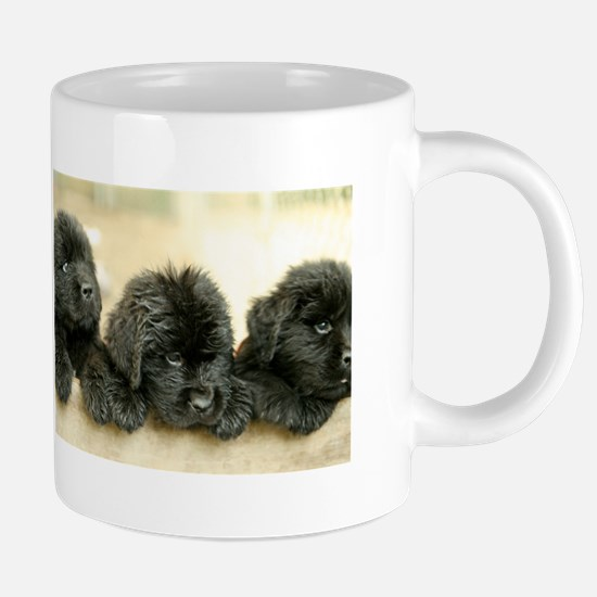 Big Black Dog Large Mugs