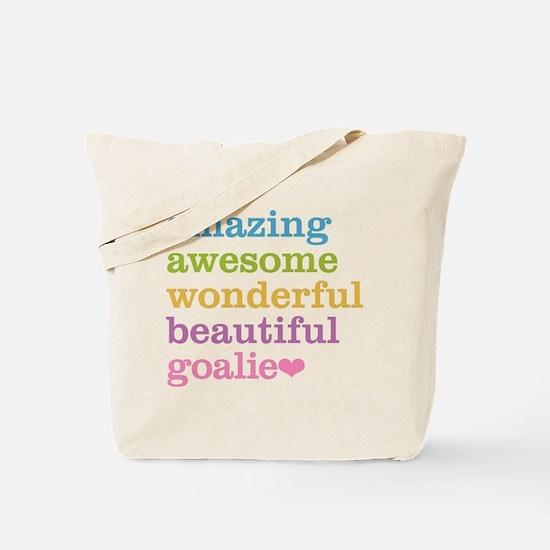 Cute Field hockey goalie Tote Bag