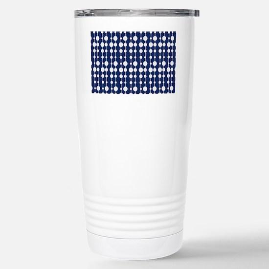 Polka Dots Pendant Patt Stainless Steel Travel Mug